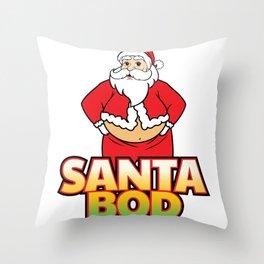 Funny Santa Bod Holiday Santa Claus Christmas Shirt Throw Pillow