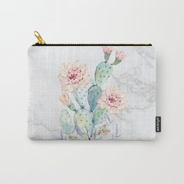 Prettiest Cactus Rose Marble Watercolor by Nature Magick Carry-All Pouch