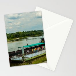 Ship on the river Wisła Stationery Cards