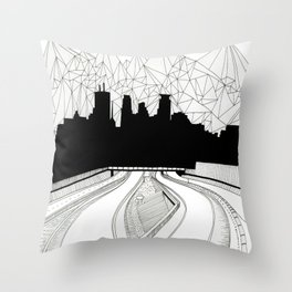 Dreaming the downtown Throw Pillow