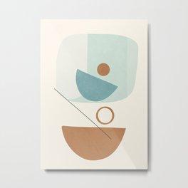 Azzurro Shapes No.54 Metal Print