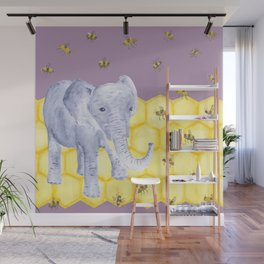 Elephant & Bees Wall Mural