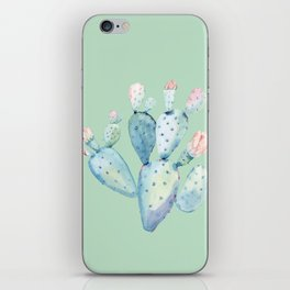 Rose Desert Cactus Light Mint Green by Nature Magick iPhone Skin