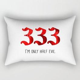 Half Evil Rectangular Pillow