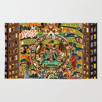 beastie boys Area & Throw Rugs featuring Beastie Boys Wow! Wow! Wow! Remix Tape Cover by Jeff Drew Pictures