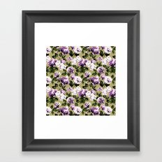 Honolulu Floral - Tan Framed Art Print