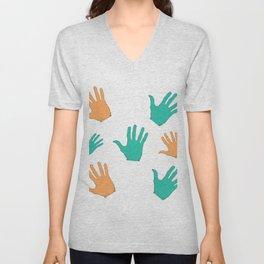 hands design Unisex V-Neck