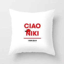 Ciao niki lauda Throw Pillow