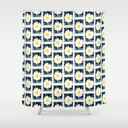 SMILE Pattern - White Daisy Flower #1 Shower Curtain