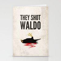 waldo Stationery Cards featuring Twin Peaks, They Shot Waldo the Myna Bird by Sauls Creative | Twin Peaks Fan Art, Pos