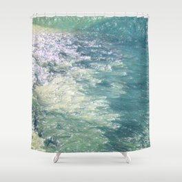 Sea Painting Maravellous Effect with brushes Shower Curtain