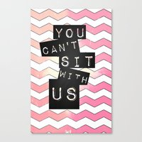 mean girls Canvas Prints featuring mean girls by Itzsterr