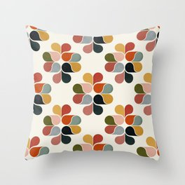 Retro geometry pattern Throw Pillow