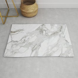 Gray and White Marble Rug