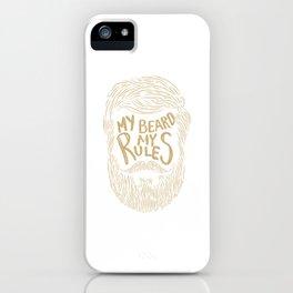 Funny Beard Gift for Men Hipster Beard Mustache iPhone Case
