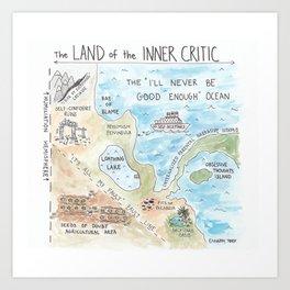 Land of the Inner Critic Art Print