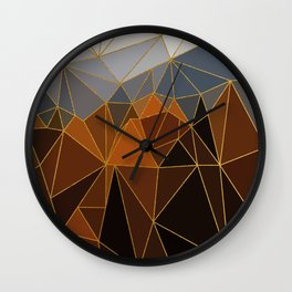 Autumn abstract landscape 4 Wall Clock