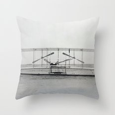 The Wright Brother's aeroplane Throw Pillow