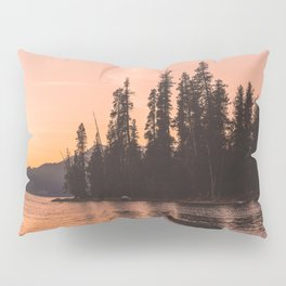 Forest Island at the Lake - Nature Photography Pillow Sham