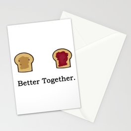 You're the Peanut Butter to my Jelly Stationery Cards