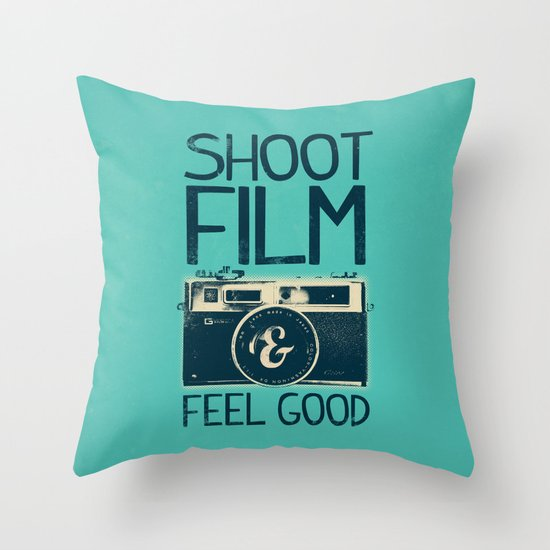 Shoot Film Throw Pillow