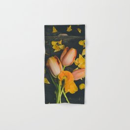 Spring Tulip Flowers Hand & Bath Towel