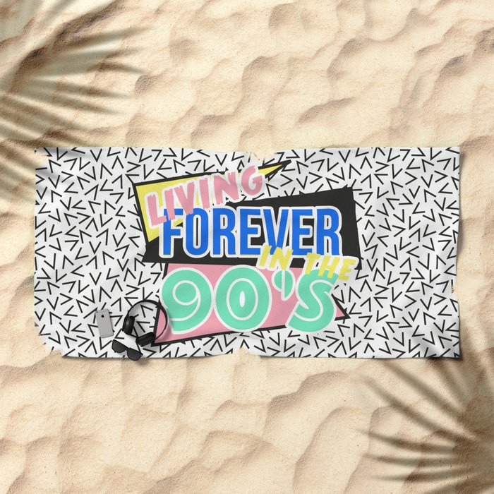 The 90's Beach Towel