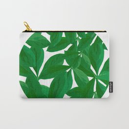 Summer Fresh Green Leaf White Background #decor #society6 #buyart Carry-All Pouch