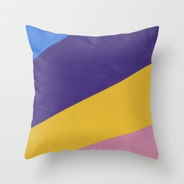Multi colored Wall Background Throw Pillow