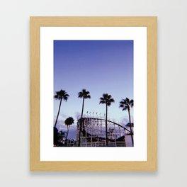 Belmont Park Roller Coaster Framed Art Print