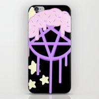 pentagram iPhone & iPod Skins featuring sugar coated pestel pentagram  by Pastel Planet