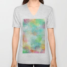 colorful batic look Unisex V-Neck
