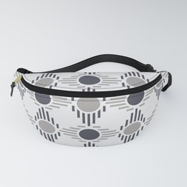 Geometric Pattern. Circles and Rhombuses Fanny Pack