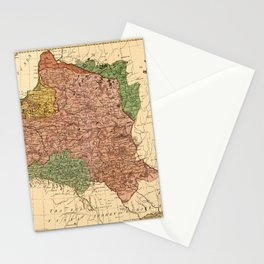 Map Of Poland 1770 Stationery Cards