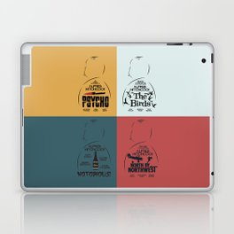 Four Hitchcock movie poster in one (Psycho, The Birds, North by Northwest, Notorious), cinema, cool Laptop & iPad Skin