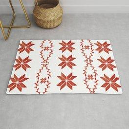 Scandinavian inspired print with red mini stars Rug