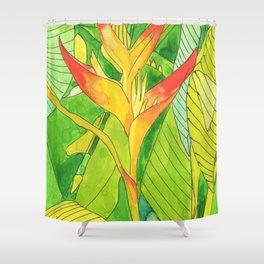 Caribbean flower, balisier FrenchWest indies Shower Curtain