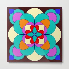 Faux Stained Glass // Stained Glass // Mandala Design // Vibrant Metal Print
