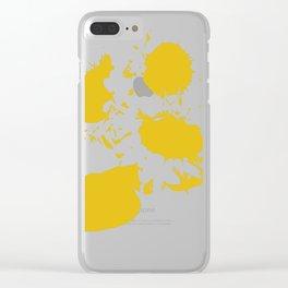 Flower Tournesol Clear iPhone Case