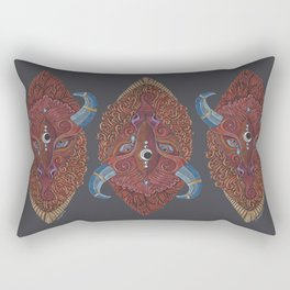 Bison Totem Rectangular Pillow