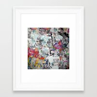 propaganda Framed Art Prints featuring WHATEVER (PROPAGANDA) by Brandon Neher
