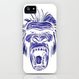 GORILLA KING KONG - Blue iPhone Case