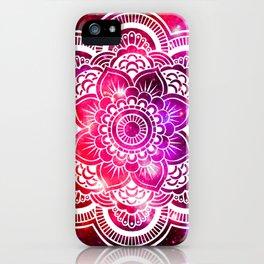 Galaxy Mandala Red Fuchsia Purple Pink iPhone Case