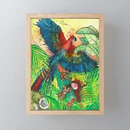 Macaw with Pitahaya, Viva la Vida Framed Mini Art Print