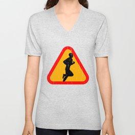 Jogging Silhouette Unisex V-Neck
