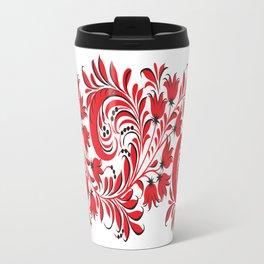 Russian Khokhloma Travel Mug