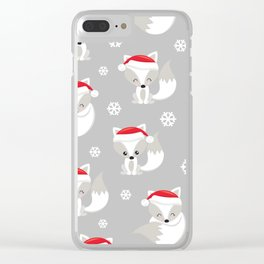 THE SPELL OF THE CHRISTMAS FOXES 2 Clear iPhone Case