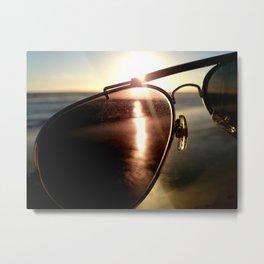 Dawn Through Glasses Metal Print