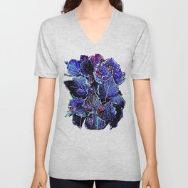 Rime Leaves Abstract Unisex V-Neck