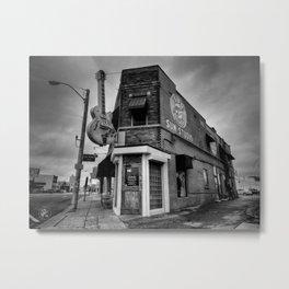 Memphis - Sun Studio 004 BW Metal Print